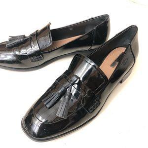 Tahari-Tina black loafers with tassle